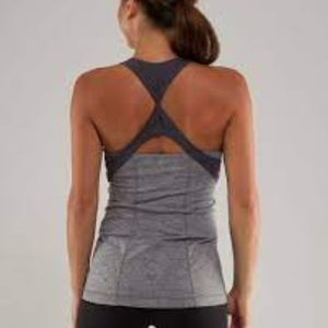 Lululemon Spin Me Tank Heathered Coal / Coal